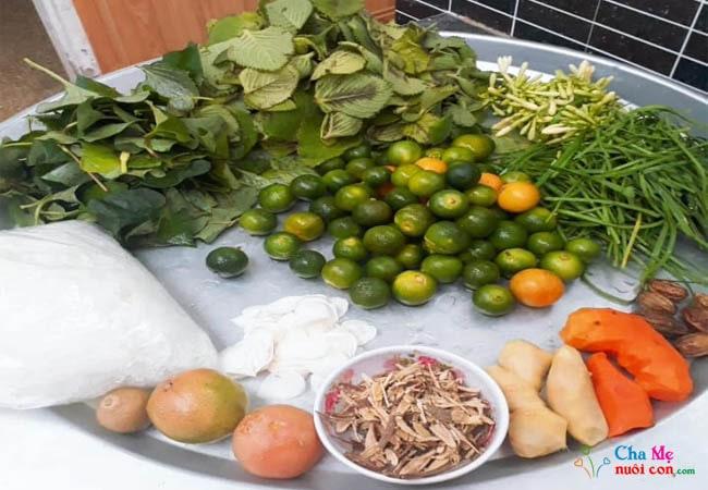 Nguyên liệu nấu siro húng chanh tại nhà