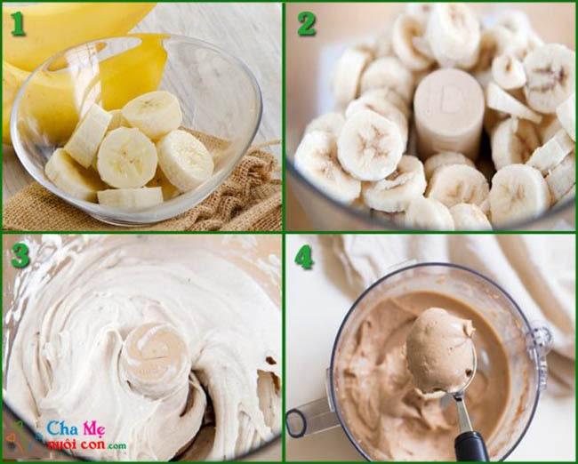 Cách làm kem chuối xay